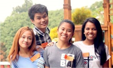 Mica (white shirt) with her small group.