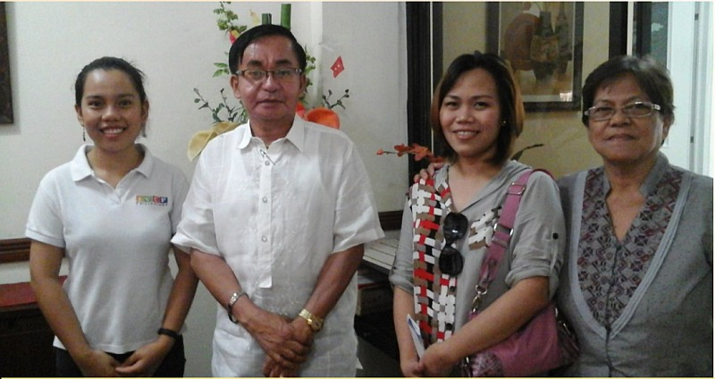 With Tanza National Comprehensive High School (TNCHS) Principal Sir Jovito at my left, next is Ate Cathy (counselor) then Ma'am Susan Bucao the Adviser