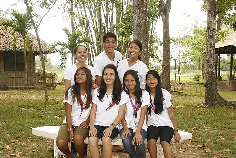 With National Leadership-Discipleship Camp (NLDC) delegates and Mr. and Mrs. Edezon Lopez as counselors