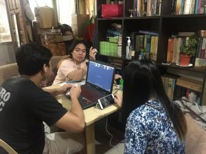 BEHIND THE SCREEN | Students from Norther Mindanao gather for the online National Leadership Summit
